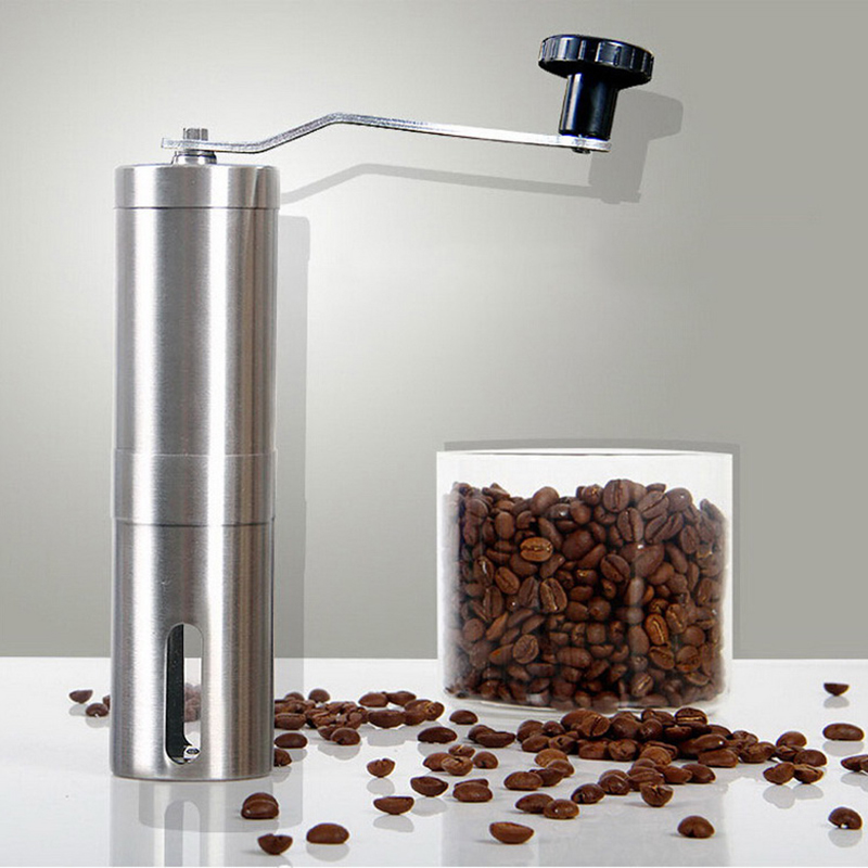 Portable Manual Coffee Grinder Stainless Steel Hand Manual Coffee Bean Burr Mill Grinder Handheld Coffee Grinder Kitchen Tool