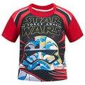 Marca Nuevo Bebé a $ number AÑOS Niños Ropa Niños de la Historieta de Star Wars Camisetas Niñas Ropa de Niños Ropa Niños Camiseta Tops