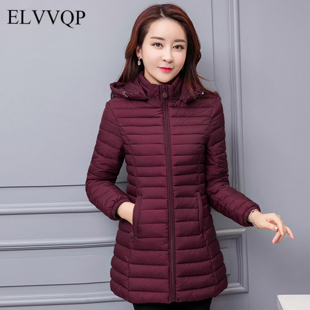 e1697e249dc86 Winter Jacket Women Plus Size 4XL 5XL 6XL Parkas Mujer Casaco Feminino  Inverno 2018 Com Capuz Korean Cotton Padded Long Coat