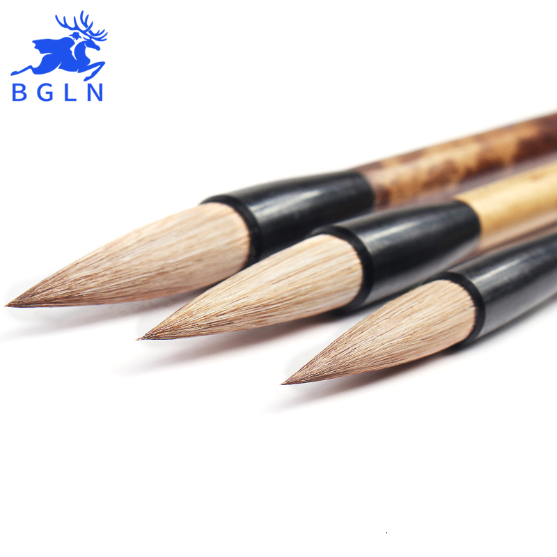 BGLN 3Pcs Mix Hair Chinese Calligraphy Brushes Pen Set Calligraphy Pen Artist Drawing Brush For Writing Painting Brush Art 3pcs set chinese calligraphy brushes pen with weasel hair writing brush artist paint brush