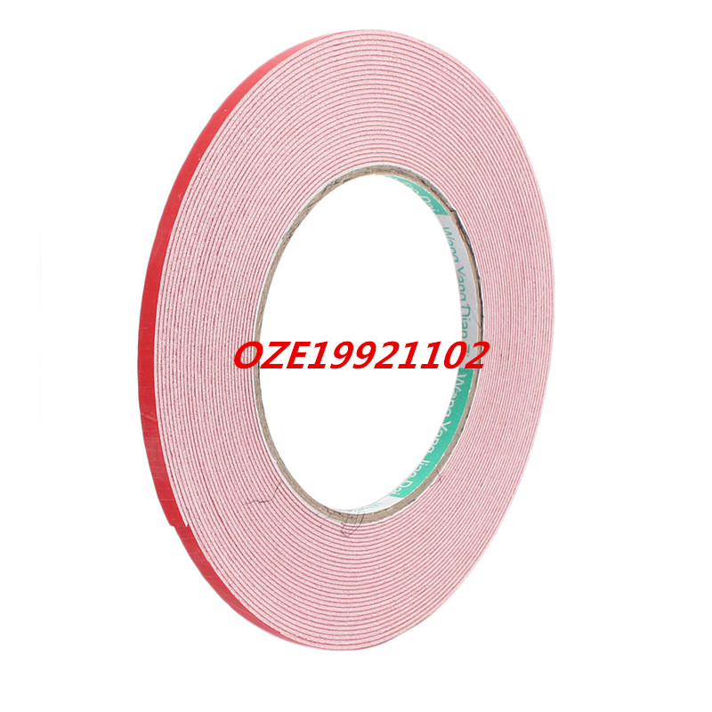 10M 6mm x 1mm Dual-side Adhesive Shockproof Sponge Foam Tape Red White 1pcs single sided self adhesive shockproof sponge foam tape 2m length 6mm x 80mm