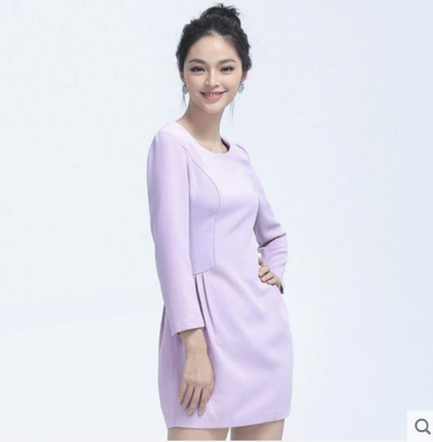 Elegant purple fashion slim dress
