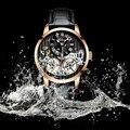 AILANG двойной Турбийон мужские наручные часы автоматические механические часы Роскошные Бизнес наручные часы Скелет кожа Relogio