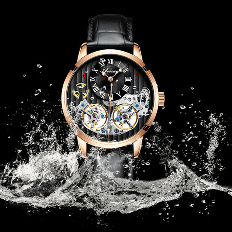 AILANG Double Tourbillon Men Wristwatch Clock Automatic Mechanical Watch Luxury Business Wrist Watches Skeleton Leather RelogioAILANG Double Tourbillon Men Wristwatch Clock Automatic Mechanical Watch Luxury Business Wrist Watches Skeleton Leather Relogio