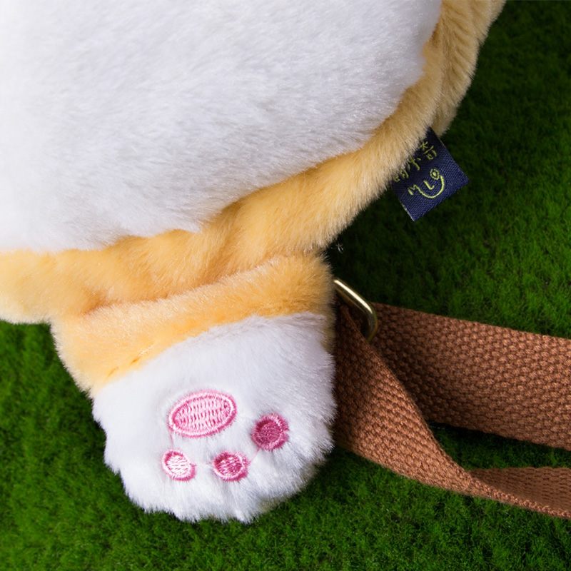 MSMO Chibi Corgi Butt Backpack პატარა Cute Pet Dog Plush - ზურგჩანთა - ფოტო 4