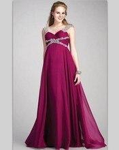 Plus Size Abendkleid Für Schwangere Frauen Perlen Lange Abiye Schatz Mutterschaft Abendkleider Eine Linie Chiffon Robe De Soiree