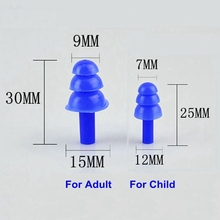 100pairs Soft Silicone EarPlugs Sound Insulation Waterproof Earplugs for Child Adult Anti-noise Swimming