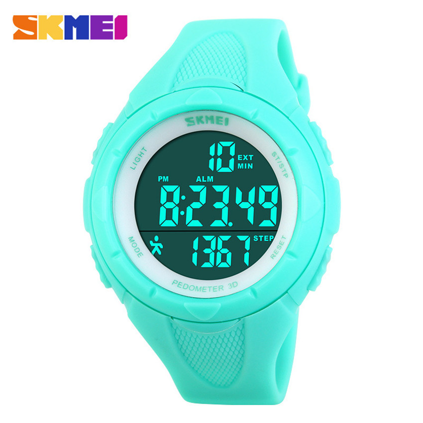 New 2016 Women Sport Watch SKMEI Brand 3D Pedometer LED Digital Watch Fashion Casual For Women