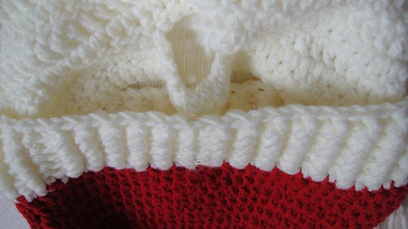 2016 Adult Crochet Knit Beanie Santa Claus Handmade Knitted Hat Hot Fashion Bearded Cap Women Men Christmas Gifts Accessories (5)