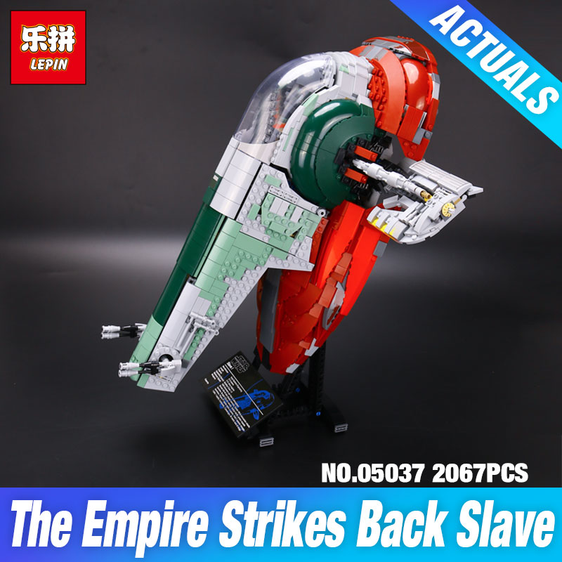 NEW LEPIN 05037 UCS Slave I Slave NO.1 Model 2067pcs Building Block Bricks Toys Kits  Compatible 75060 Children Gifts new lepin 22001 1717pcs pirate ship imperial warships model building kits block briks toys for children gifts compatible 10210