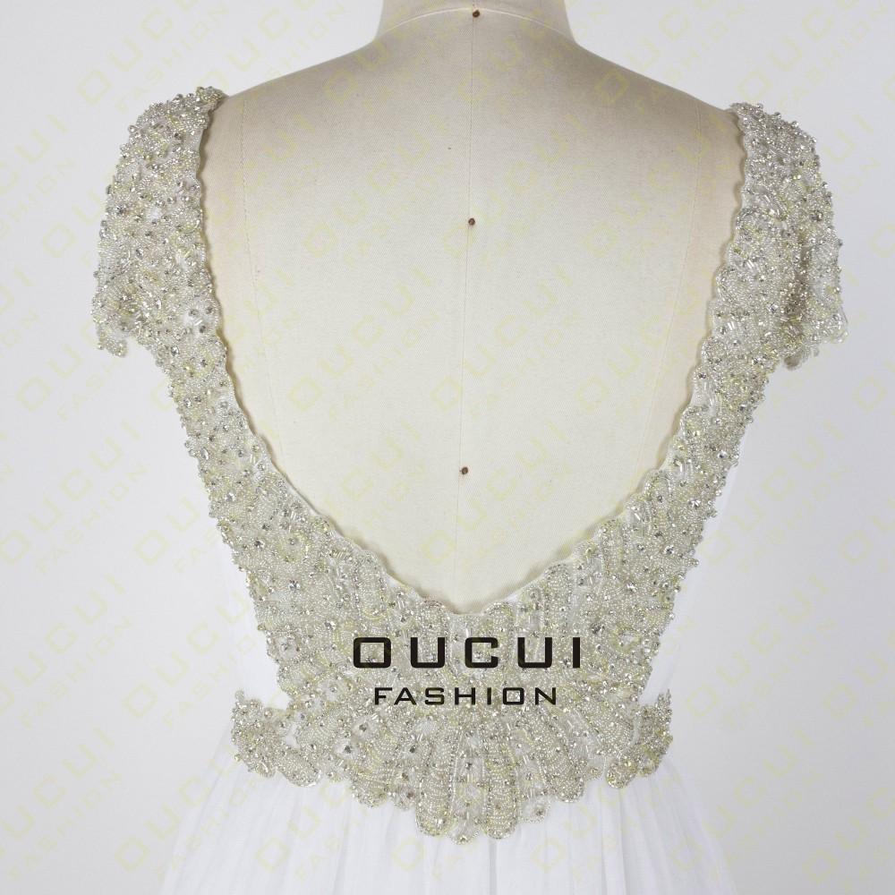 Tulle Fabric Pleat With Beading Handwork Bridesmaid Mermaid Long Prom Dress With Stones OL102785 vestido de festa de casamento 24