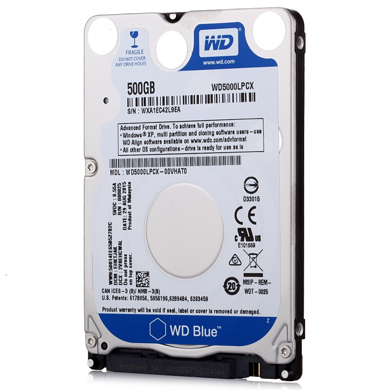 """WD Blue 500Gb 2.5"""" SATA III Internal Hard Disk Drive 500G HDD HD Harddisk 6Gb/s 16M 7mm 5400 RPM for Notebook Laptop 2"""