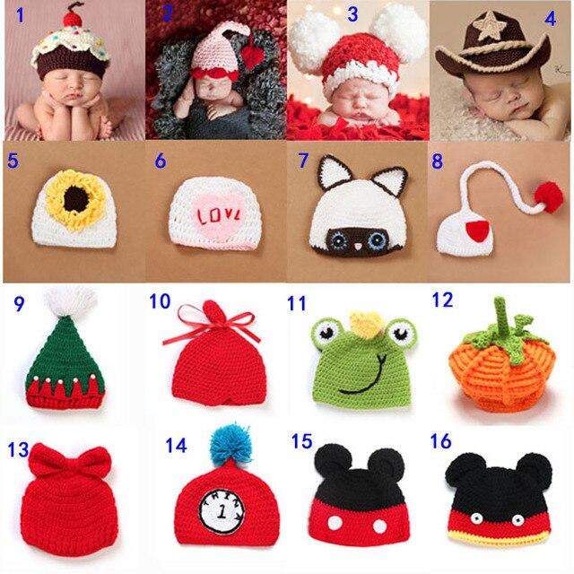 Newborn Infant Knit Sweater Crochet Photography Prop Hats Handmade Baby Hat  Children s Winter Beanies Cap SG046 c663f45c3bb