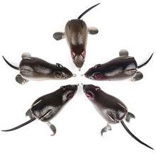 5 Pcs /lot Top Water Fishing Mouse Mice Rat Lure Bait Crankbait Pike Zander Bass