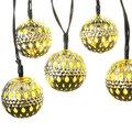 Energia Solar 10 LED Marroquino Lanternas de LED Luzes De Fadas String Solares Para Jardim Festa de Natal Bola Decoração Da Lâmpada Frete Grátis