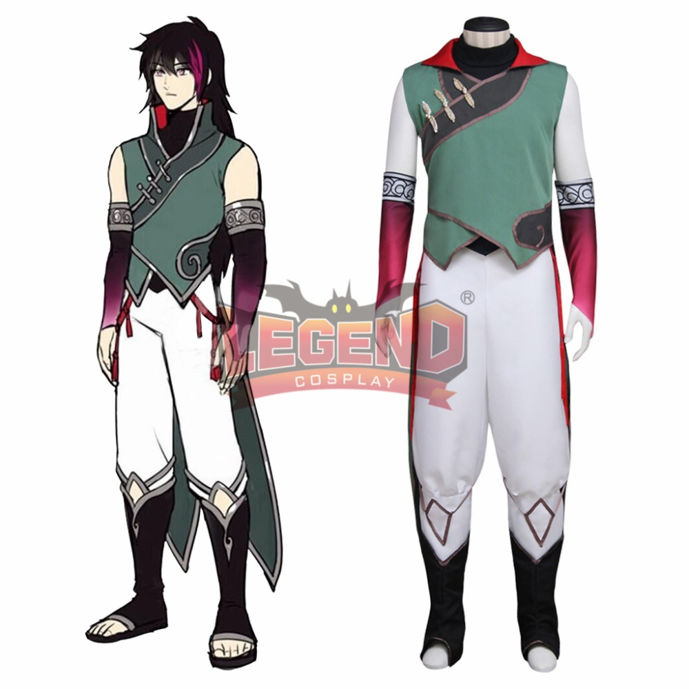 RWBY Volume 4 Lie Ren Cosplay Costume Custom made full set All Size halloween men costume-in Anime Costumes from Novelty & Special Use    1
