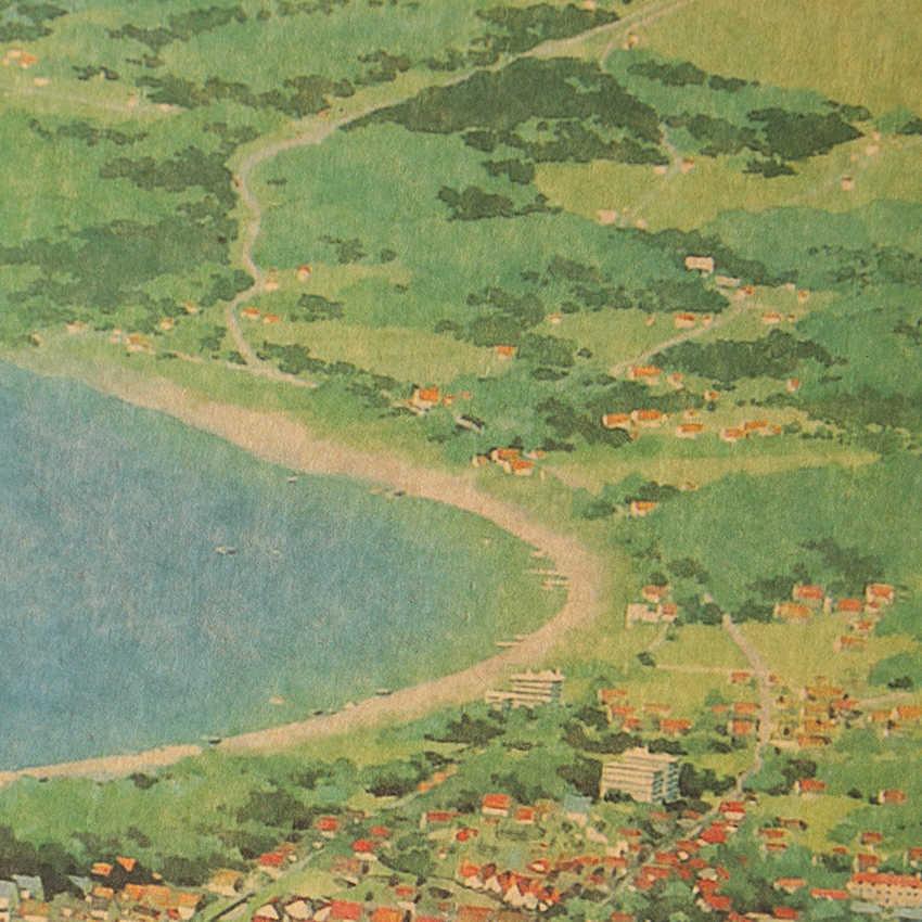 ملصقات حائط لتزيين ملصقات ورق كرافت عليها رسوم متحركة هاياو ميازاكي لتزيين الملصقات الورقية المقلدة 36X51.5 سنتيمتر