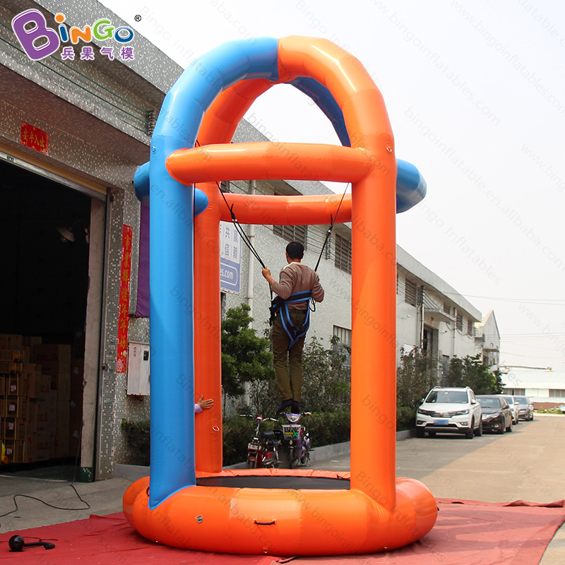 Air sealed sport game type inflatable bungee jumping trampoline/bungee run inflatable toys
