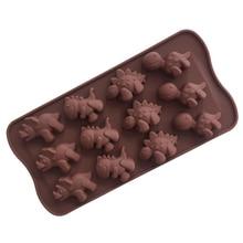 סיליקון דינוזאור עובש שוקולד בעלי החיים עוגת ביסקוויט עובש אפיית flip סוכר סוכריות סיליקון DIY עובש