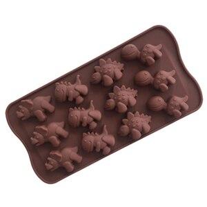 Image 1 - Silicone dinosaur mold Chocolate animal cake biscuit Mold Baking flip sugar candy silicone DIY mold