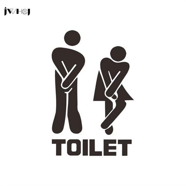 "JWHCJ Removable ""TOILET""door labels sticker DIY random personality toilet sticker Wall Sticker bathroom  wallpaper Home Decor"