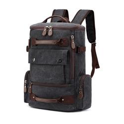 Canvas Men Vintage Backpack Bag Male Backpack 15.6'' 17 Inch Laptop Bags Outdoor Travel Back Pack Teenage Luggage Backpacking
