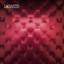 Laeacco Wine Red Headboard Bed Diamond Square Pattern Baby Newborn Photographic Background Photography Backdrop For Photo Studio