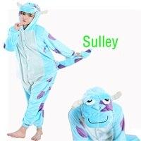 Movie Animal Sullivan Long Sleeve Hooded Onesie Men Women Adult Unisex Winter Homewear Kigurumi For Adults
