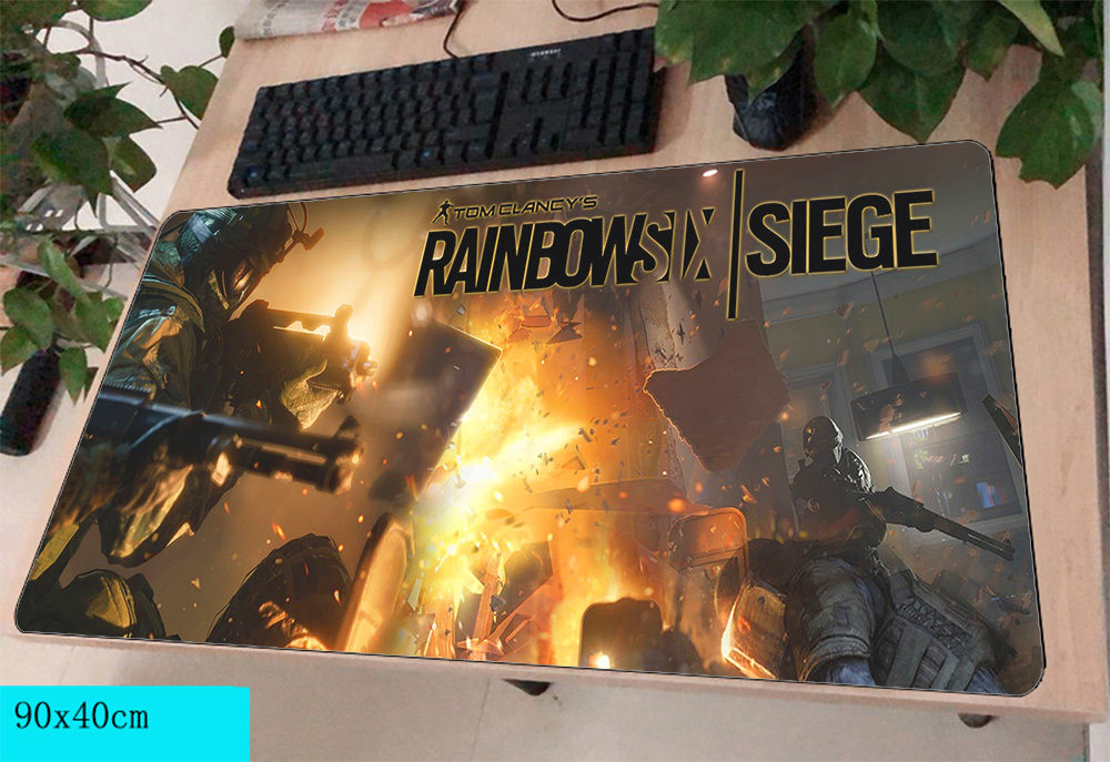 Comprare Rainbow Six Assedio Mousepad Gamer 900x400X3 MM Gaming