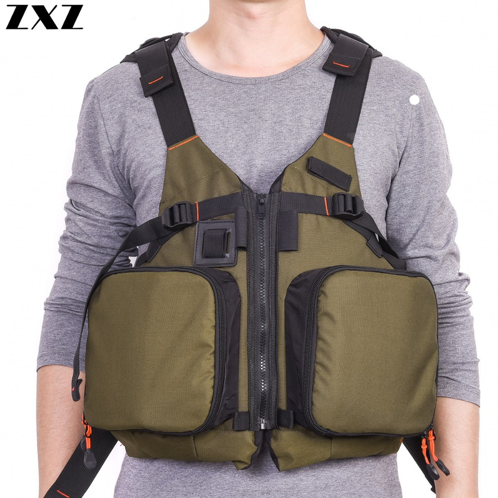 Outdoor Fishing Vests Military Multi-pocket Fishing Bag Jacket Safety Breathable Sailing Quick-dry Buoyancy Life Vest Case Relieving Rheumatism