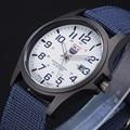 Esportes ao ar livre Mens Watch Data Homens Relógio Militar Do Exército de Pulso De Quartzo Analógico Casual Relógios de Pulso de Aço Inoxidável