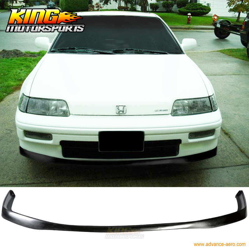 JDM Style Poly Urethane Front Bumper Lip Spoiler For 88 91 Honda CRX Coupe 2Dr