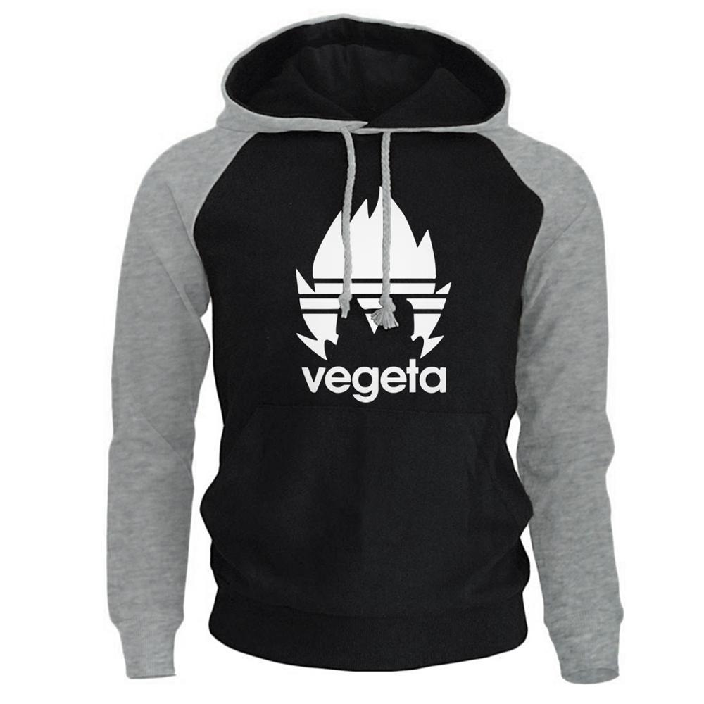 Men's Sweatshirt Spring New Fashion Hoody 2019 Raglan Hoodies Vegeta Casual Men's Sweatshirt Dragon Ball Z Anime Harajuku Hoodie