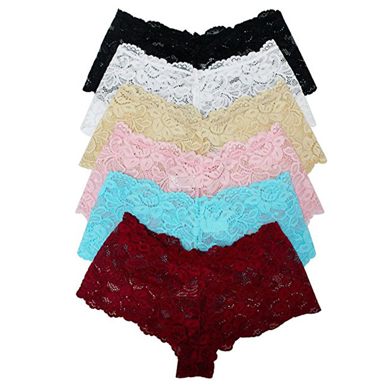 Underwear Women Sexy Lace   Panties   Ropa Interior Femenina Plus Size Sexy   Panties   Seamless   Panties   5XL 6XL Six Color P5059