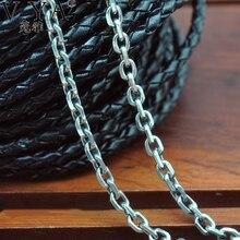 Тайский серебряные ювелирные изделия свитер цепи 100% чистого серебра мужчин/женщины ожерелье оптовая ожерелье стерлингового серебра 925. Бесплатная доставка HYN12