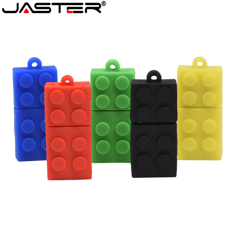 JASTER Toy Brick Flash Drive USB 64GB Silica Gel Building Block Pendrive Gift 32GB 16GB Pen Drive Real Capacity USB Stick Cle
