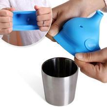 Новейшая насадка на присоске в форме слона, крышка для бутылки, мягкая бутылка для воды, бутылка для напитков, непроливающаяся крышка из мягкого силикона