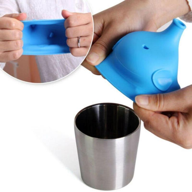 2019 Newest Elephant Shape Suction Nozzle Bottle Cover Soft Water Bottle Mouth Cup Drink Bottle Spill-proof Caps Soft Silicone