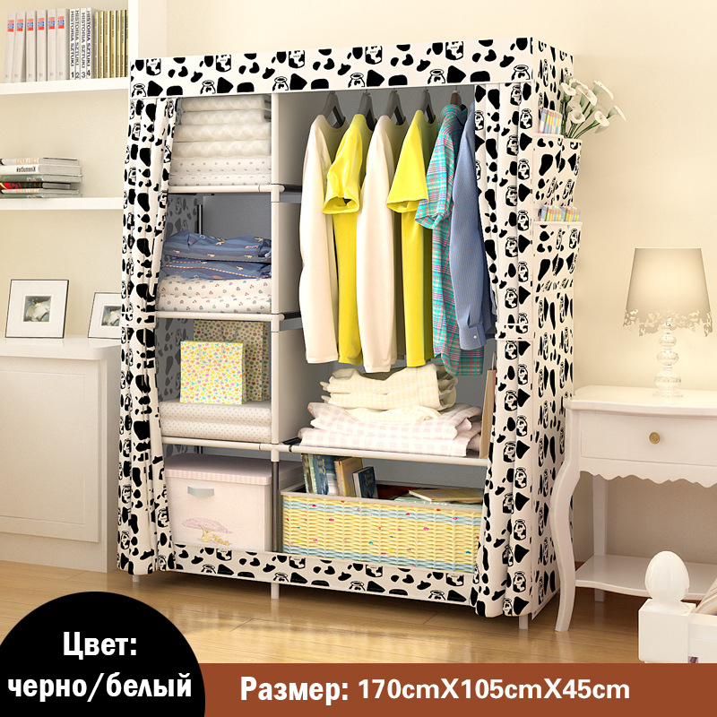 Image 3 - When The Quarter Wardrobe DIY Non woven Fold Portable Storage Cabinet Multifunction Dustproof Moistureproof Closet-in Wardrobes from Furniture