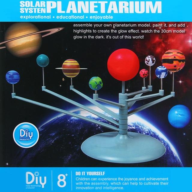 New simulation solar system planetarium assemble model kit learning new simulation solar system planetarium assemble model kit learning eductional training toys child diy science project solutioingenieria Images