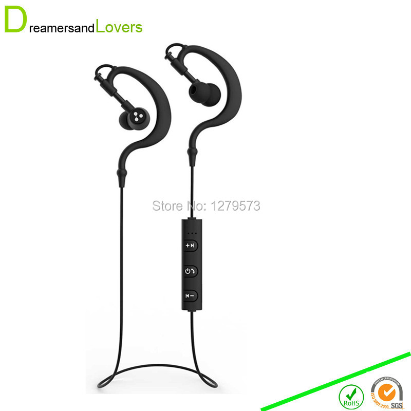 Dreamersandlovers Bluetooth Earphones V4.1 Wireless Sport Headphones Headsets With microphone For Sports running exercise Black