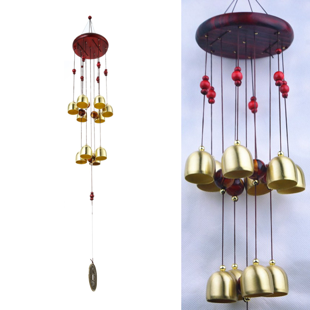 US $7 63 28% OFF|Metal Craft Outdoor Living Yard Garden Wind Chimes Home  Ornament Gift Tubes Bells Copper 10 Bells-in Wind Chimes & Hanging