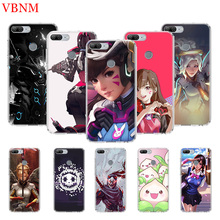 Overwatchs OW D.VA Printing Protect Phone Case for Huawei Honor 8X 8S 7A 7S 9 10 Lite 8A 20i V20 Y5 Y6 Y7 Y9 2019 Cover Coque