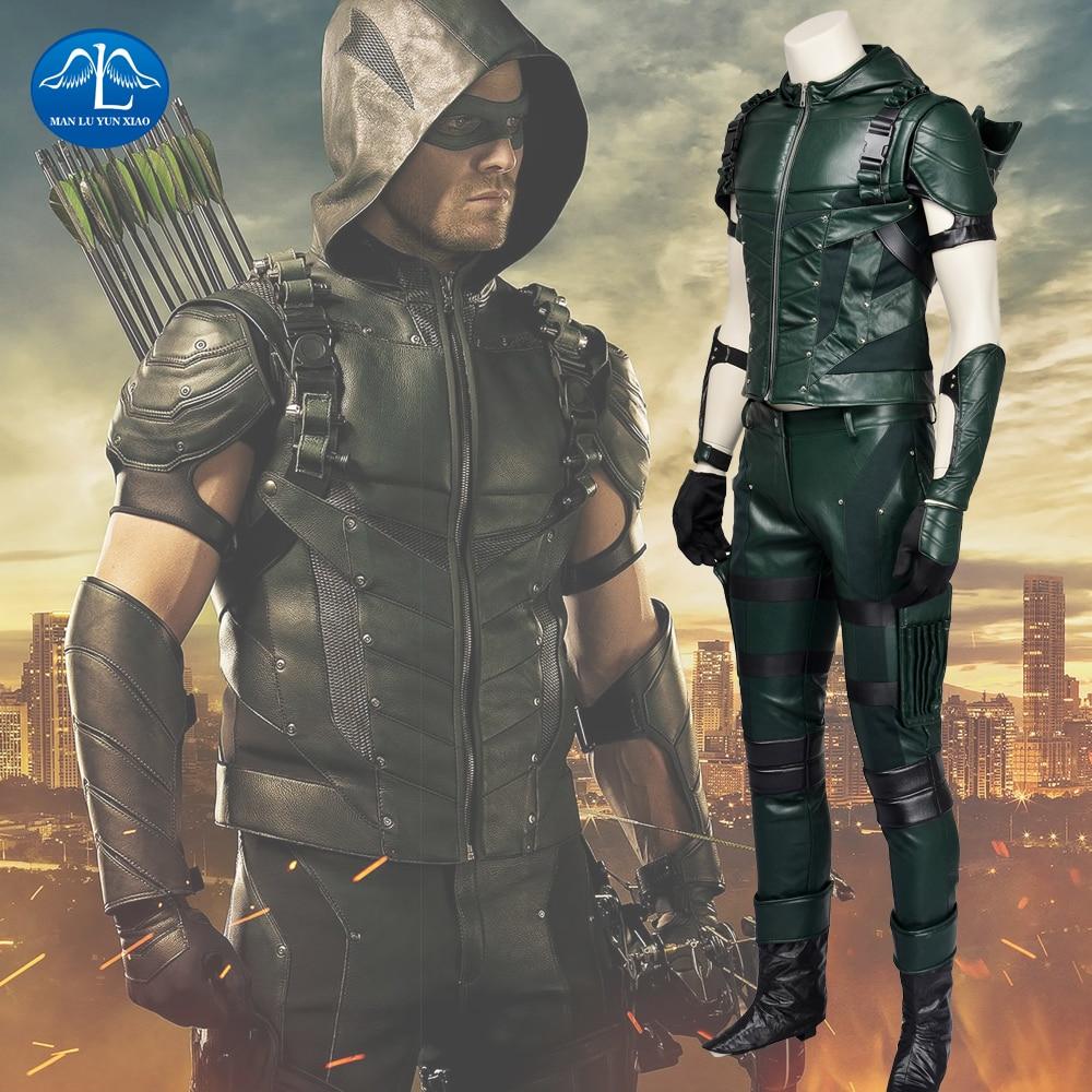 Manluyunxiao Green Arrow Season 4 Cosplay Costume Oliver
