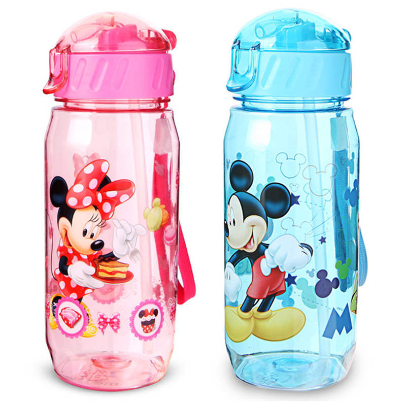 450ML Disney Princess Mickey Sippy Cup Cartoon Minnie Child Cup Portable Sophia Cute Lady Cup Baby Drinking Cup