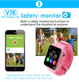 Gps smart watch niños reloj impermeable v7k con cámara/monitor de facebook llamada sos ubicación devicertracker anti-perdido pk q90/q80/q60
