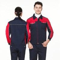 Work Clothes Men Woman Reflective Workwear Wear resistant Suit Overalls for Repairman Machine Auto Repair Electric Welding