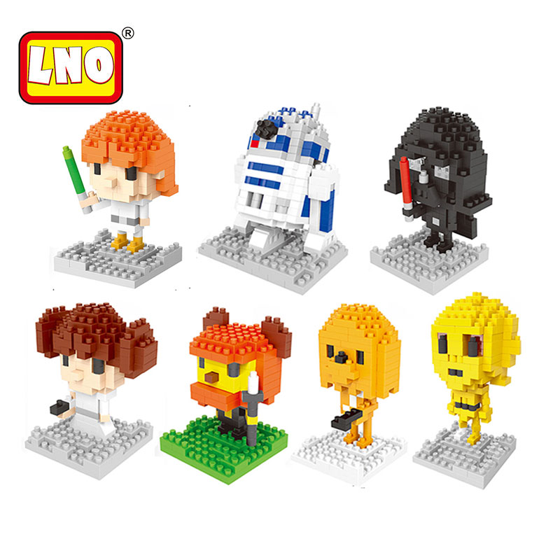 LNO Nanoblock Kawaii American Anime Figures BB8 Series Diamond Plastic Building Blocks Bricks Educational Toys for Children loz diamond blocks assembly display case plastic large display box table for figures nano pixels micro blocks bricks toy 9940