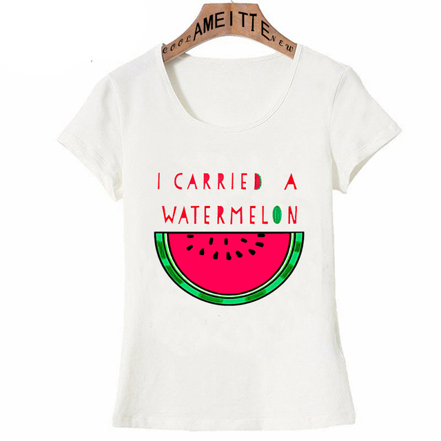 Carried Print Summer T I Shirt Fashion Women Watermelon A 2019 7qdYzY