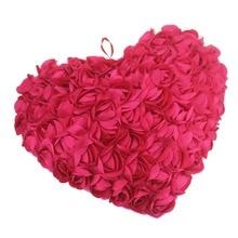 Juguete Asimiento Almohadas Sofá Cojín de la silla de peluche juguetes de peluche animal de Rosas de color rosa oscuro silla Cojines Tienen Forma de Corazón de Moda